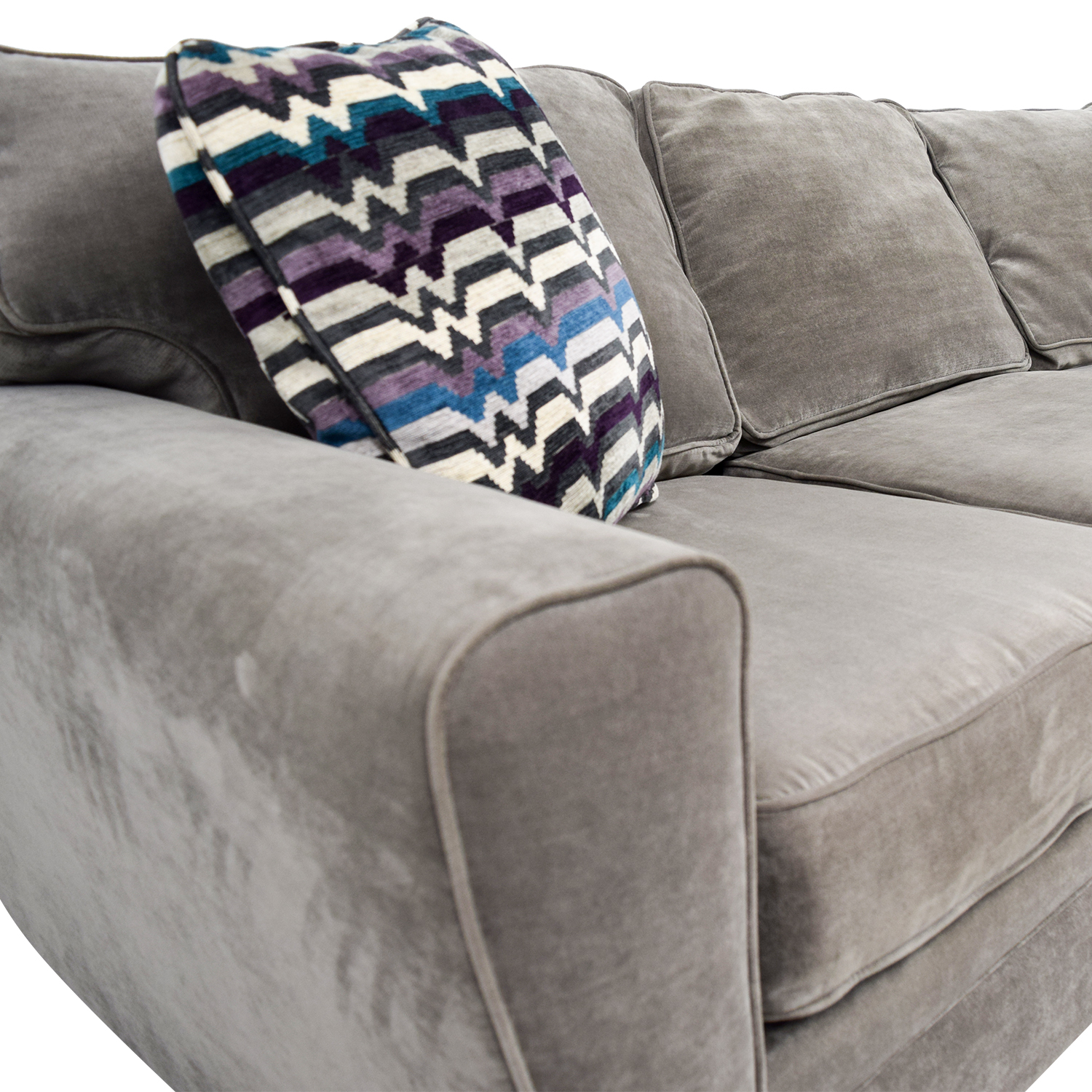 All About Artemis Ii 2pc Microfiber Sectional Sofa Gypsy Vintage