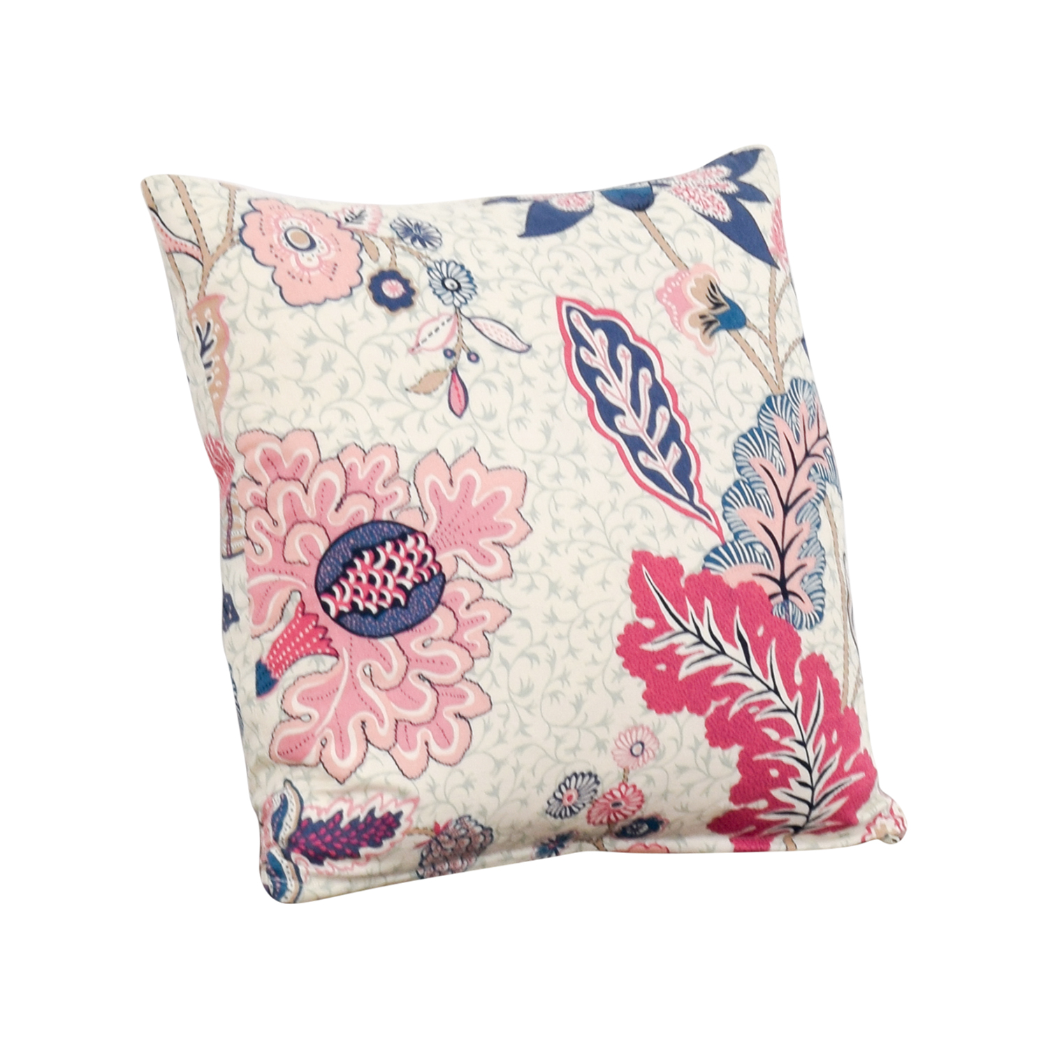 Society Social Society Social Blue and Pink Pattern Pillow used