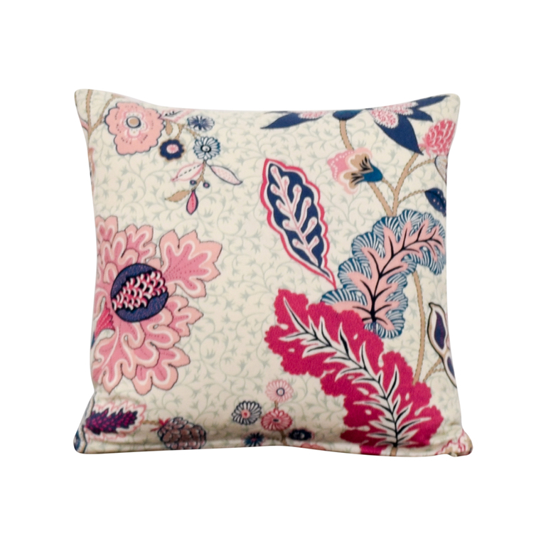 Society Social Society Social Blue and Pink Pattern Pillow for sale