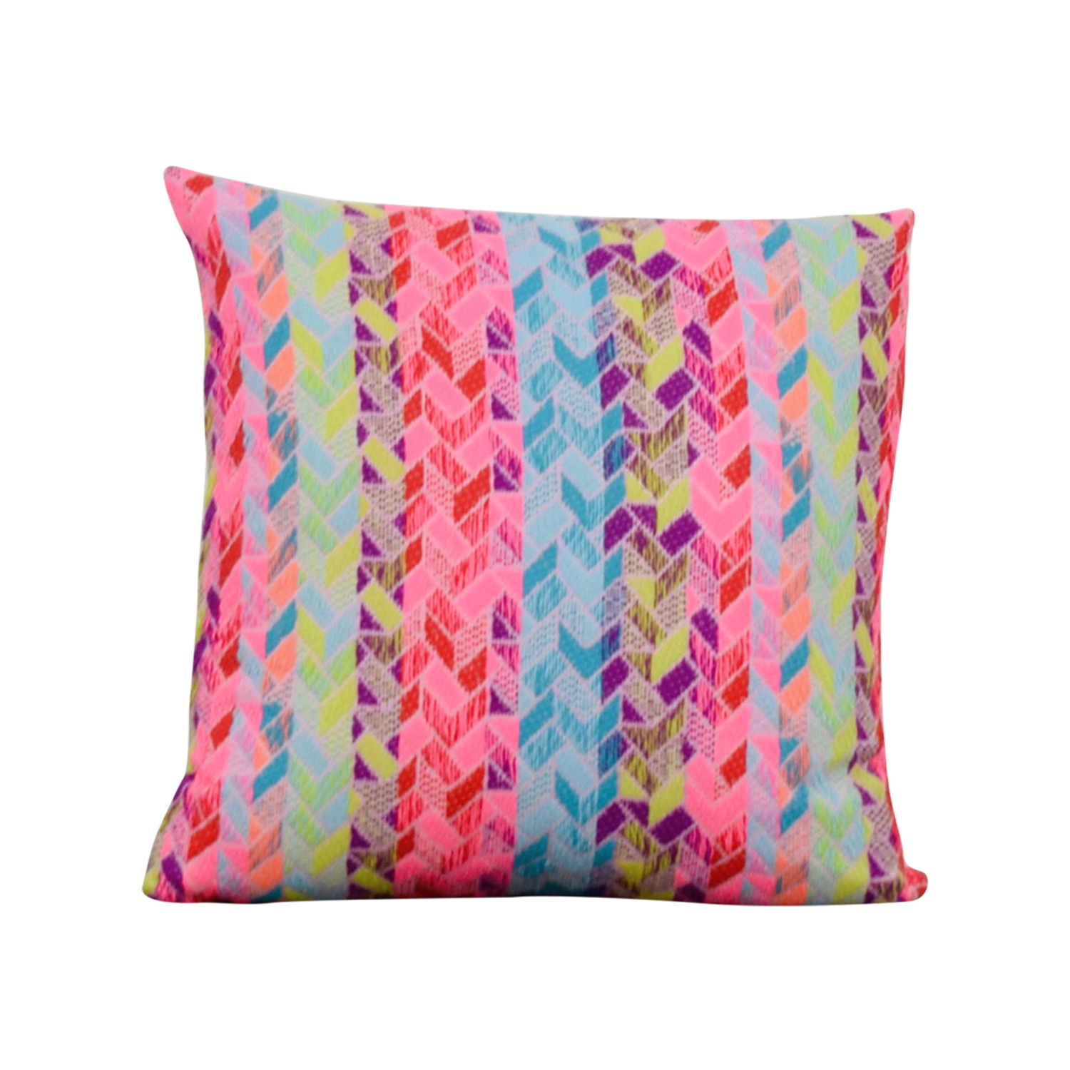 Society Social Society Social Multi Colored Pattern Pillow used