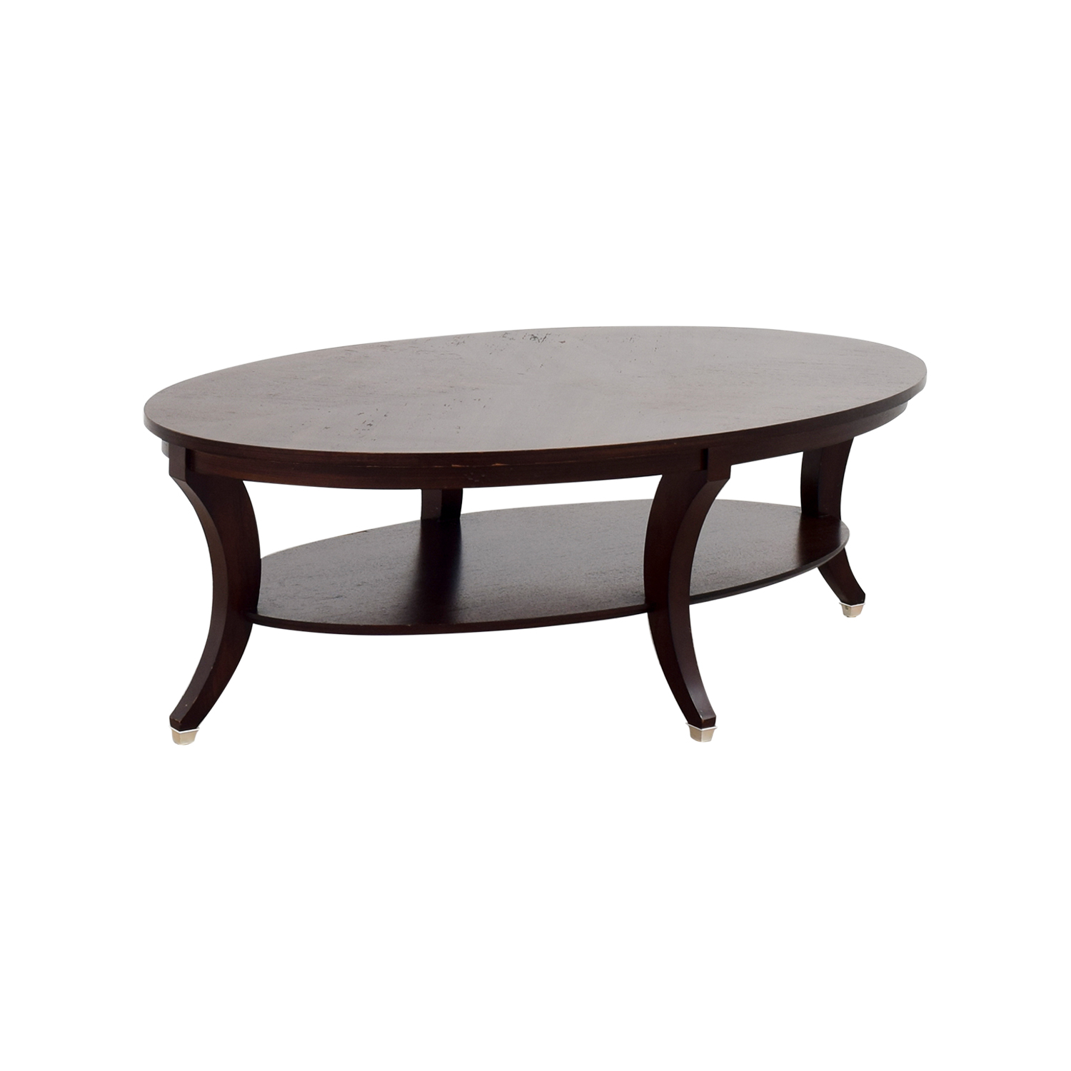 Ethan Allen Coffee Table Glass Top: Ethan Allen Ethan Allen Adler Oval Coffee Table