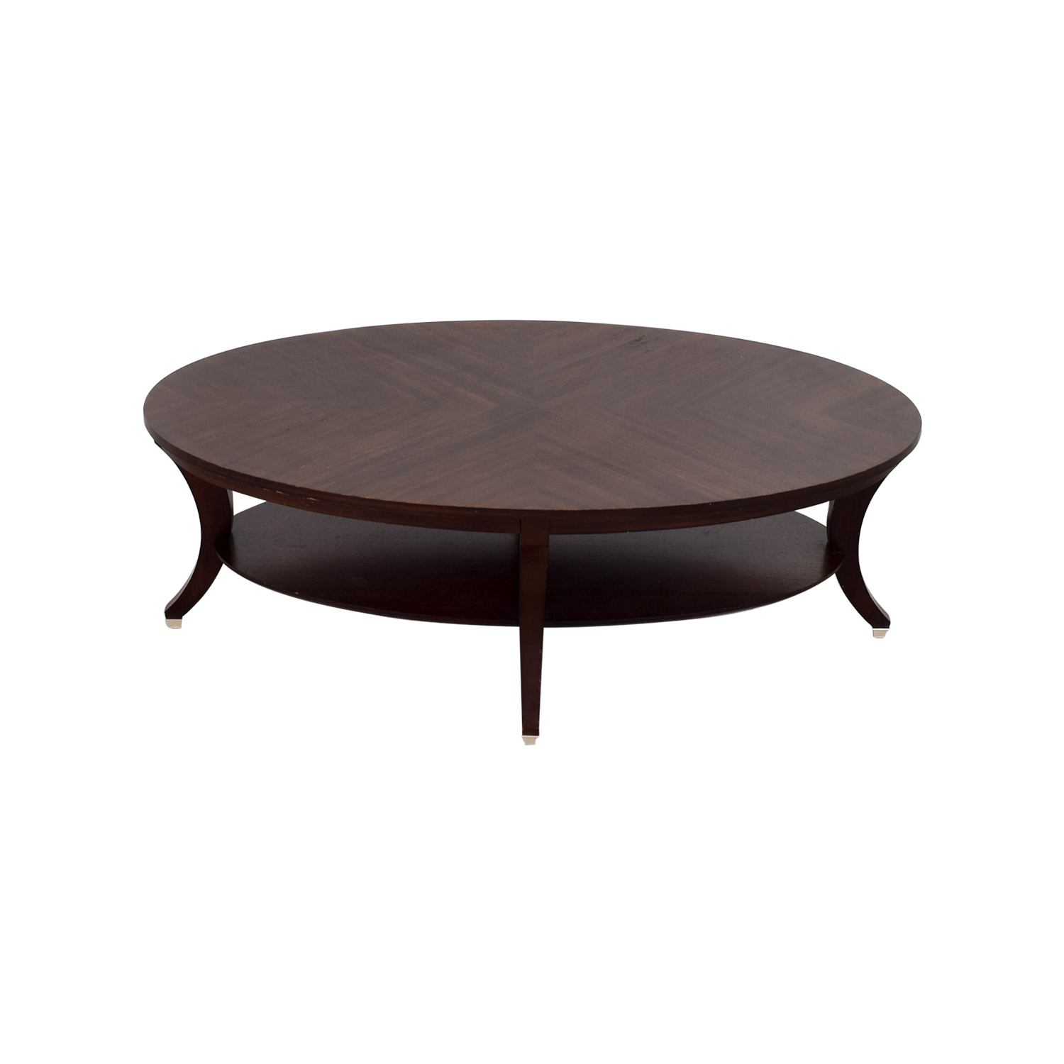 Used Ethan Allen Coffee Tables: Ethan Allen Ethan Allen Adler Oval Coffee Table