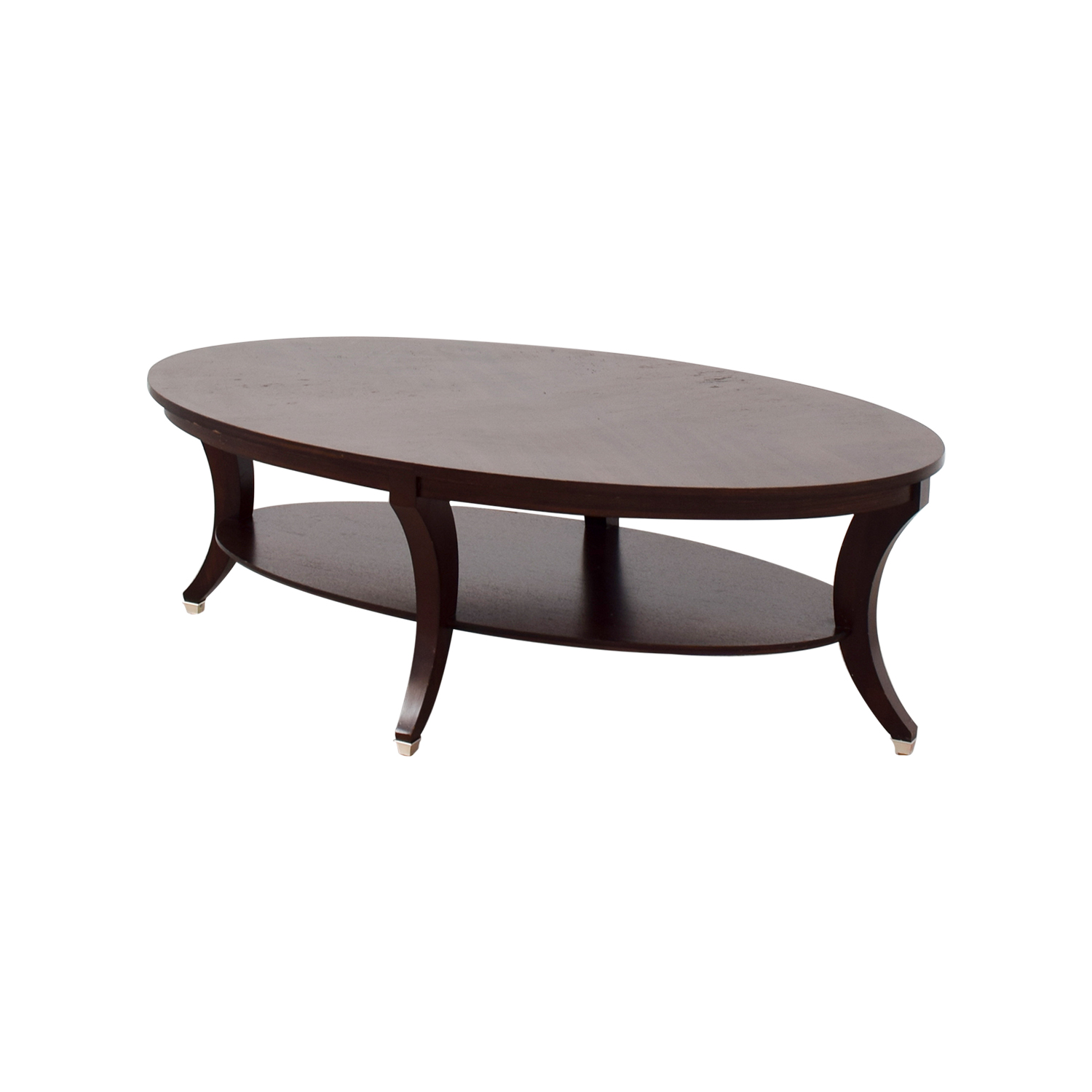 63% OFF Ethan Allen Ethan Allen Adler Oval Coffee Table Tables