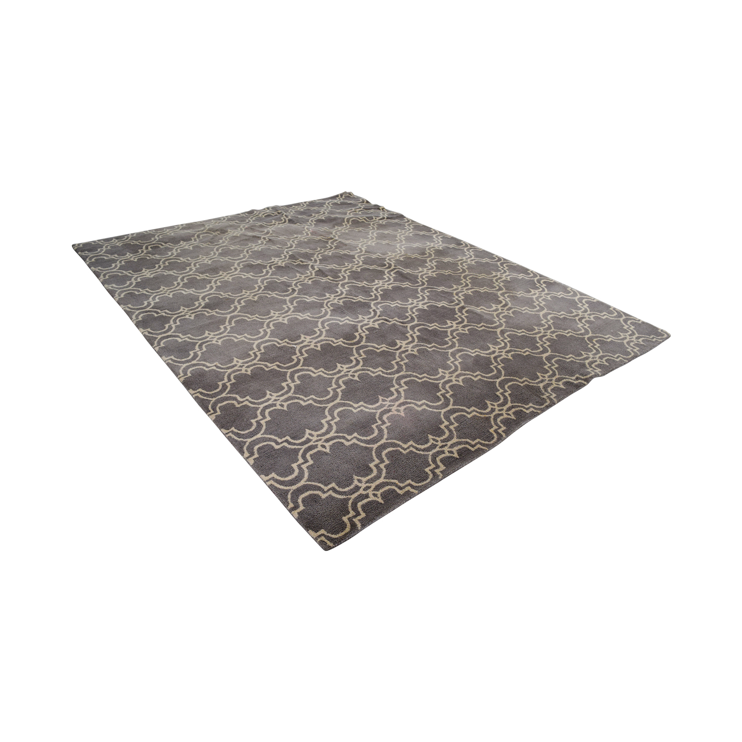 shop Pottery Barn Grey Scroll Tile Rug Pottery Barn Rugs