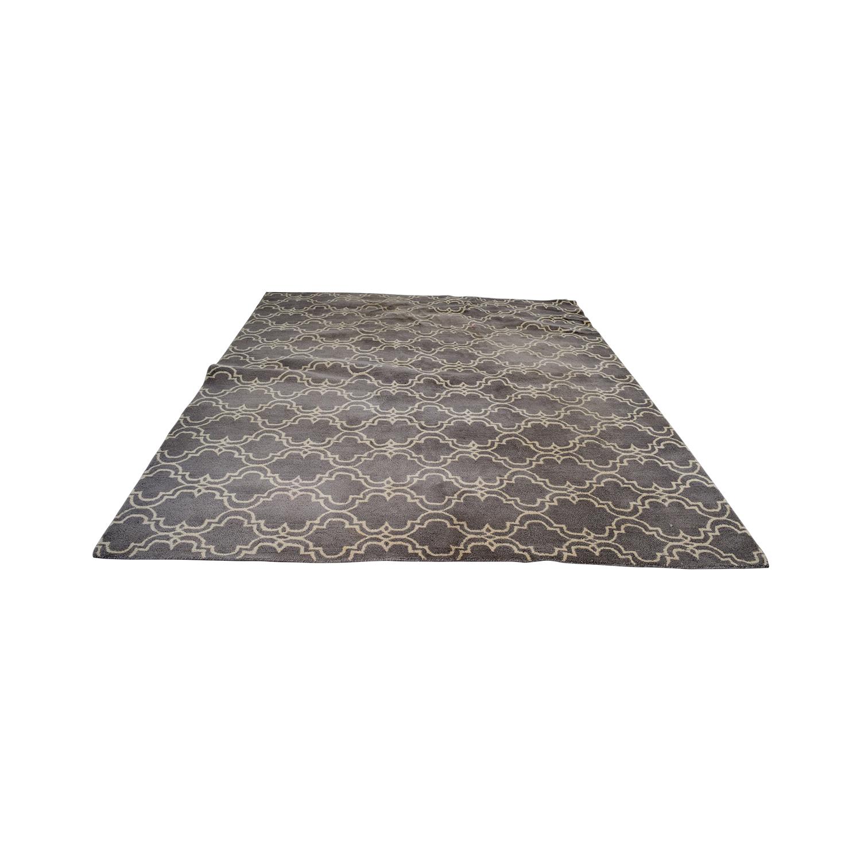 Pottery Barn Pottery Barn Grey Scroll Tile Rug