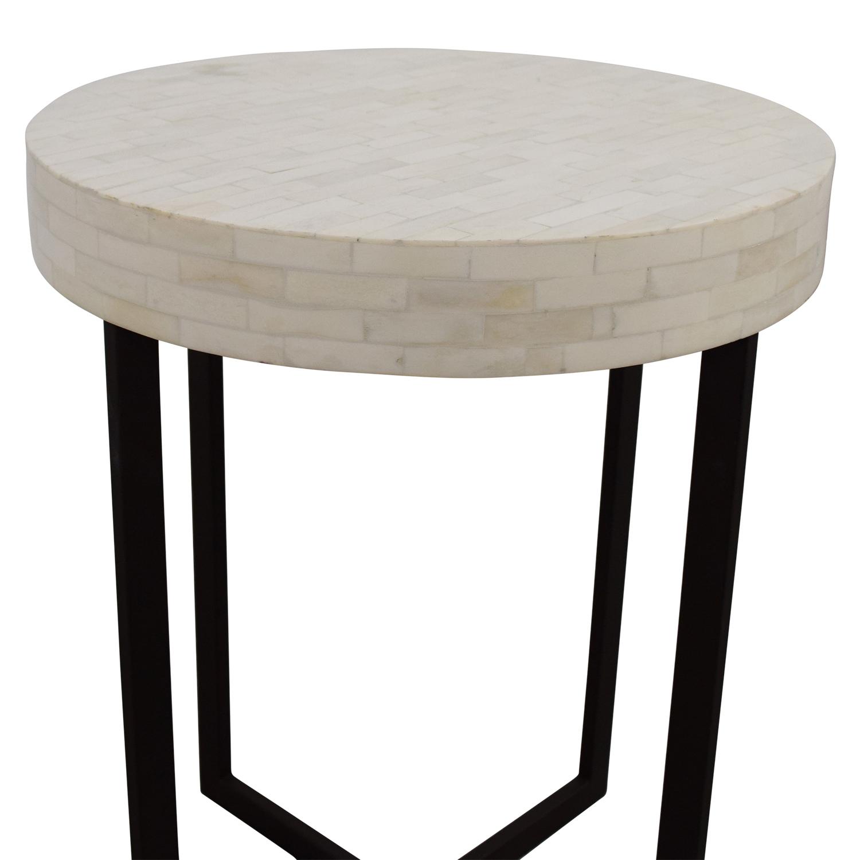 78 off west elm west elm bone side table tables. Black Bedroom Furniture Sets. Home Design Ideas