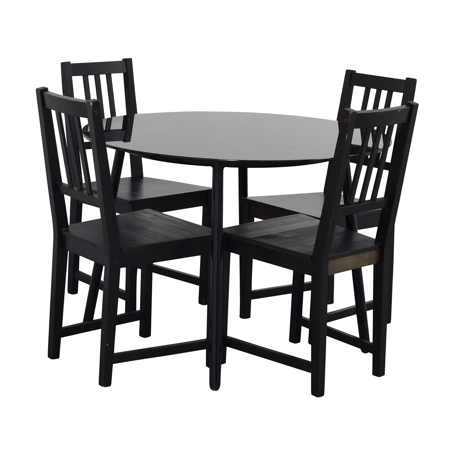 31 off ikea ikea glass and wood table and chairs tables for Ikea dining table and chairs set