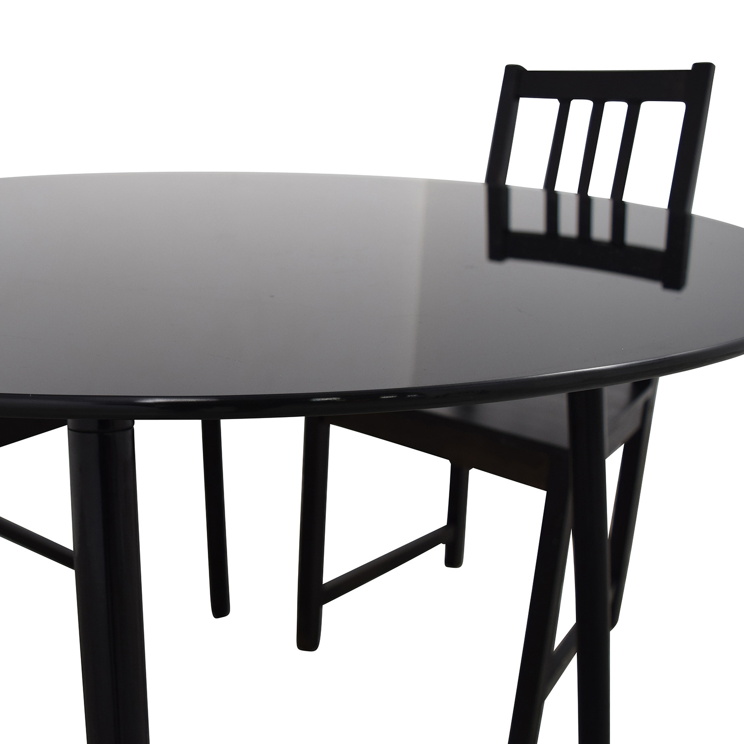 31 off ikea ikea glass and wood table and chairs tables for Ikea glass table tops
