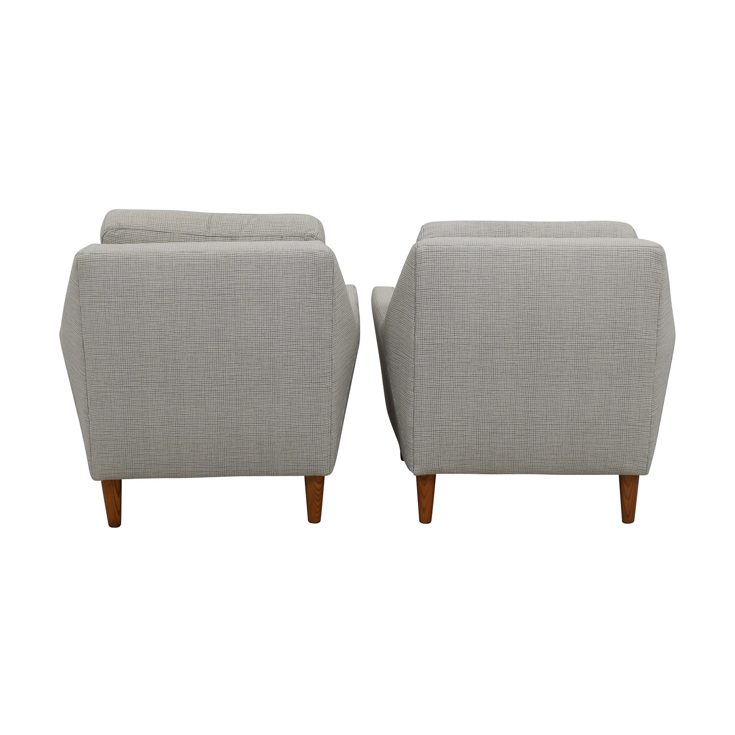 buy West Elm Everett Grey Arm Chairs West Elm Accent Chairs