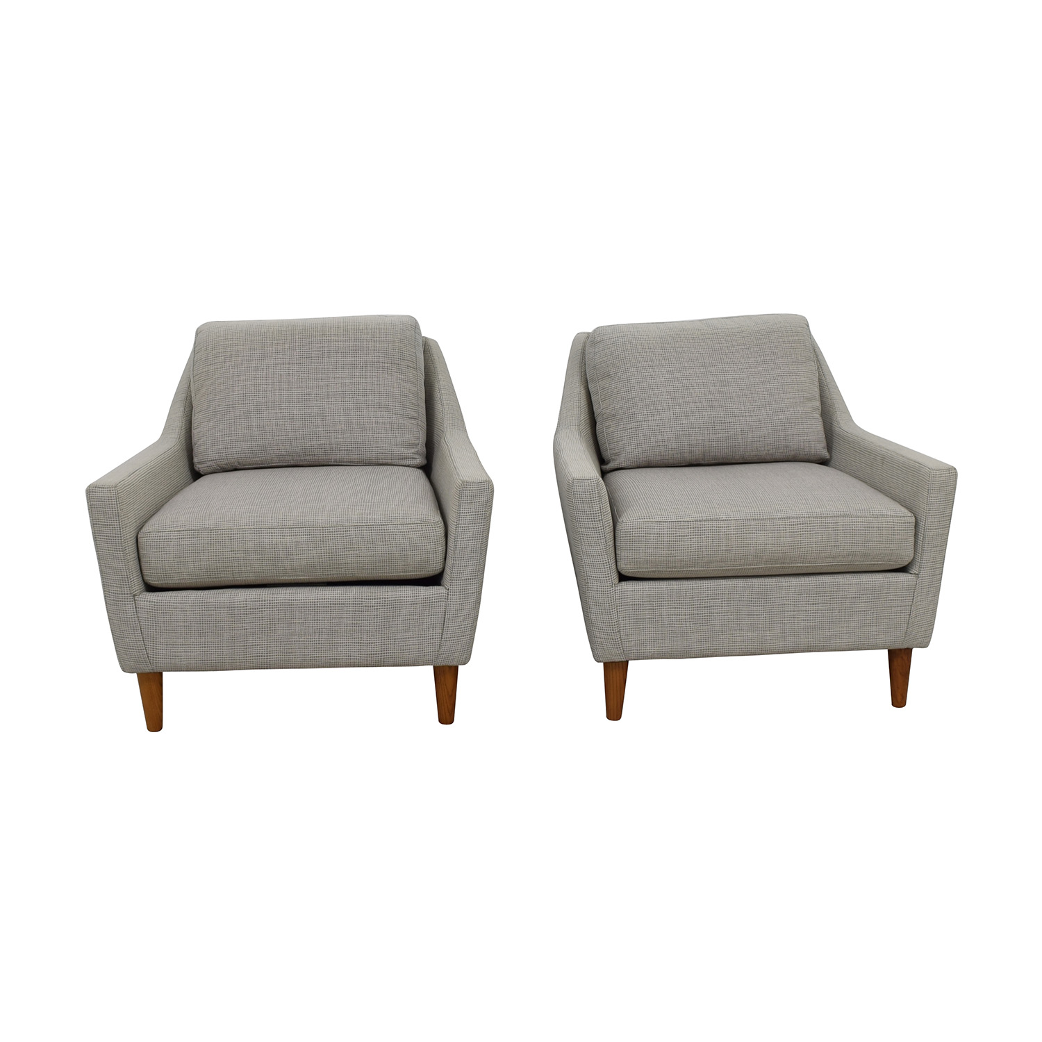 shop West Elm Everett Grey Arm Chairs West Elm Chairs