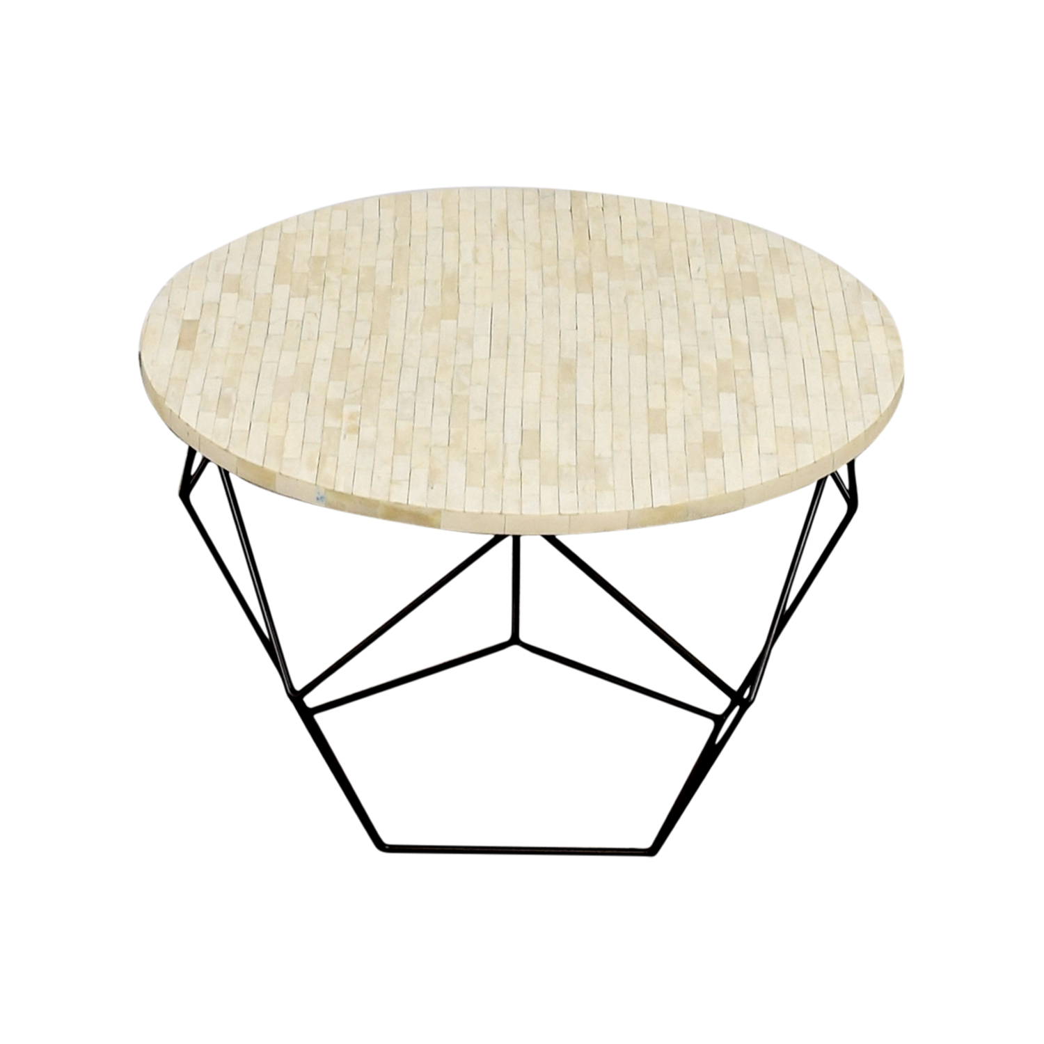 West Elm West Elm Origami Bone Coffee Table discount