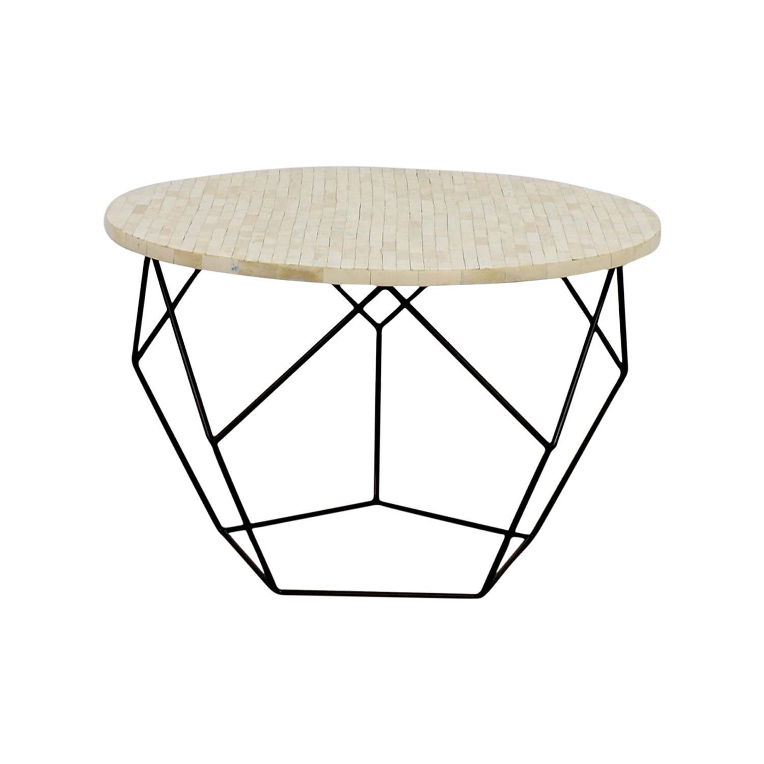 West Elm West Elm Origami Bone Coffee Table on sale