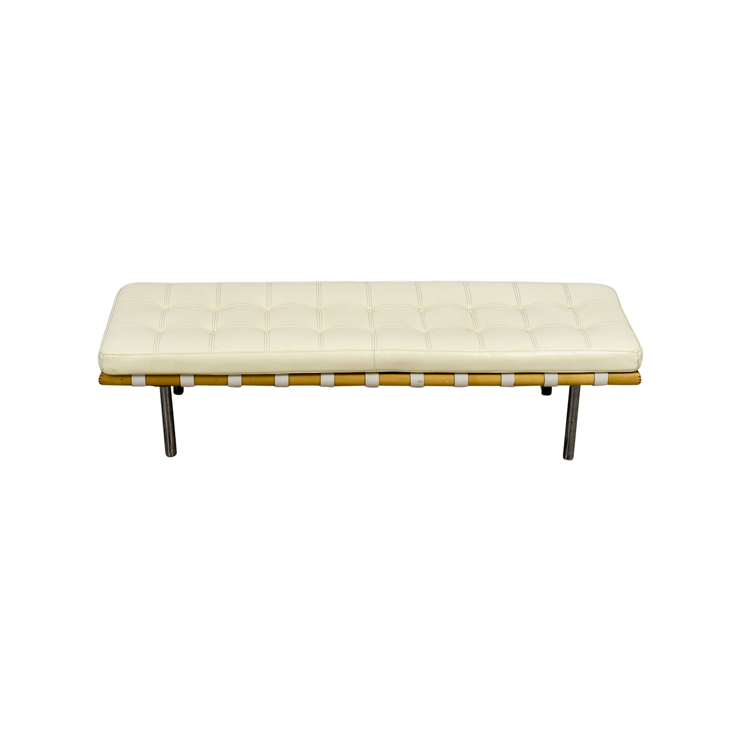 White Feather Tufted Bench price