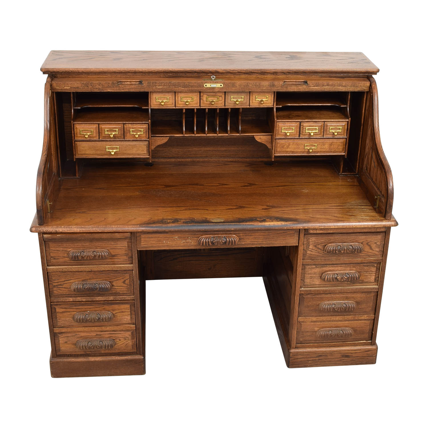 Used Desk For Sale >> 84 Off Antique Oak Roll Top Desk Tables