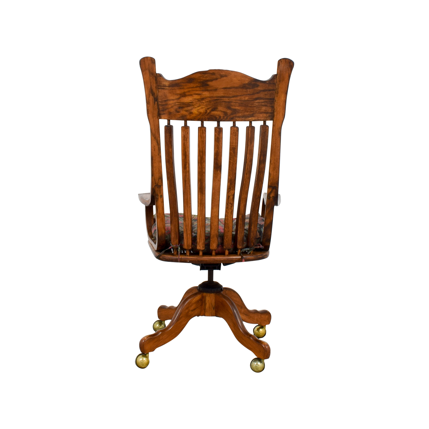 47 Off Wooden Desk Chair On Casters Chairs