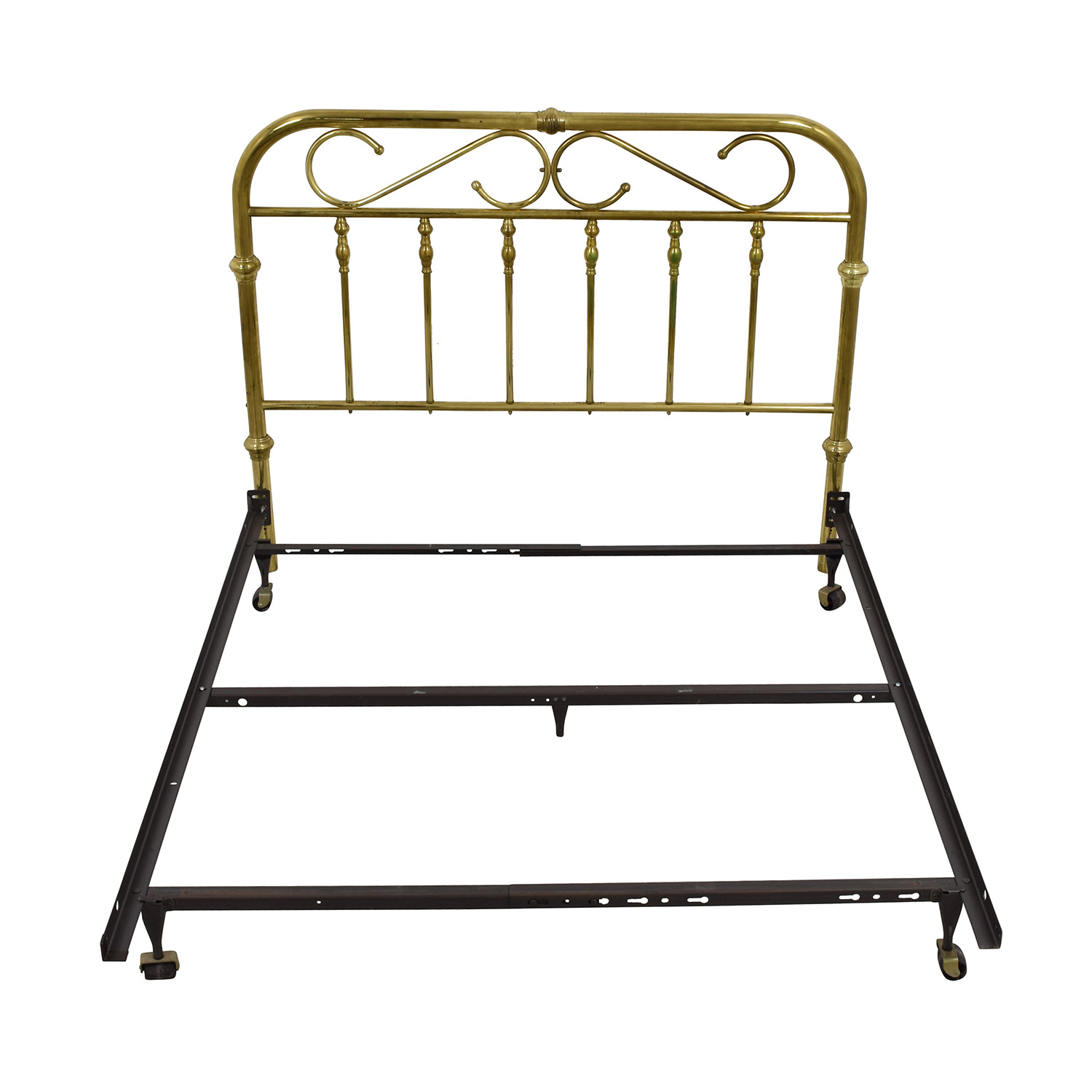 Brass and Metal Queen Bed Frame sale
