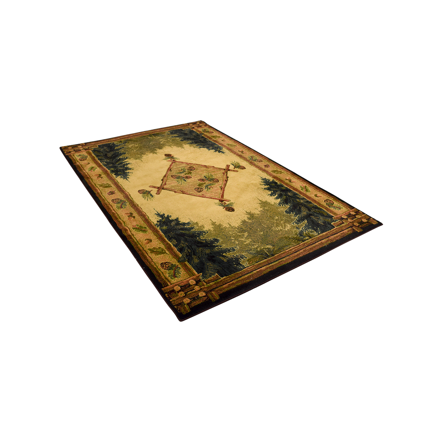 shop Genesis Genesis Lodge Forest Trail Olefin Pile Rug online