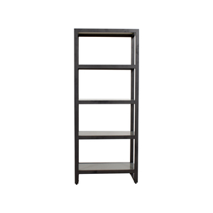 Crate & Barrel Crate & Barrel Glass and Graphite Metal Bookcase dimensions
