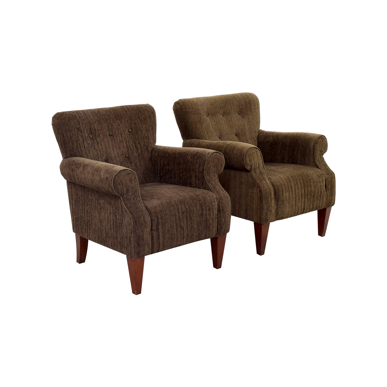 ... Emerald Home Furnishings Emerald Home Furnishings Upholstered Brown  Chairs Used ...