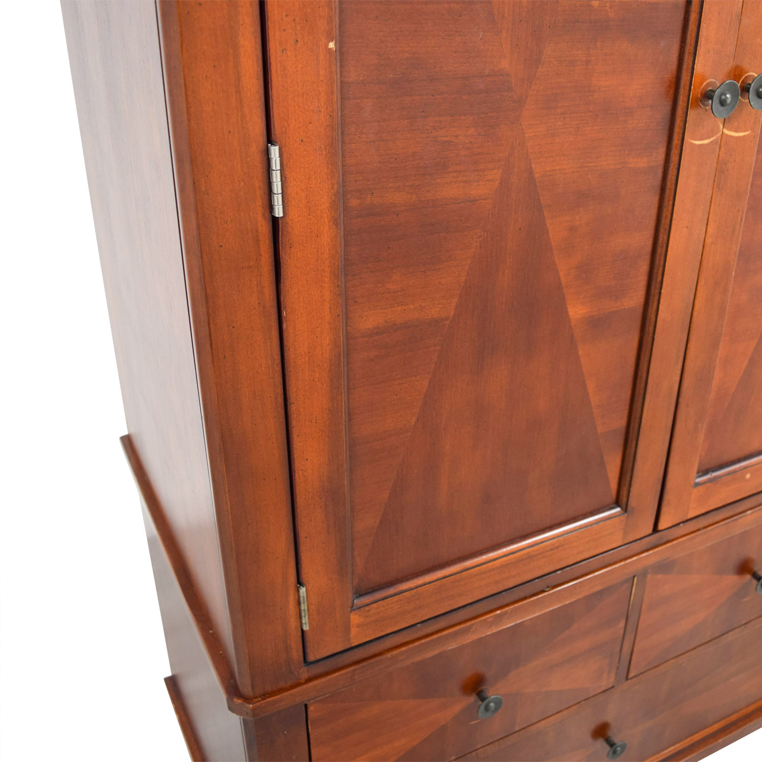 Wood Armoire with Drawers sale