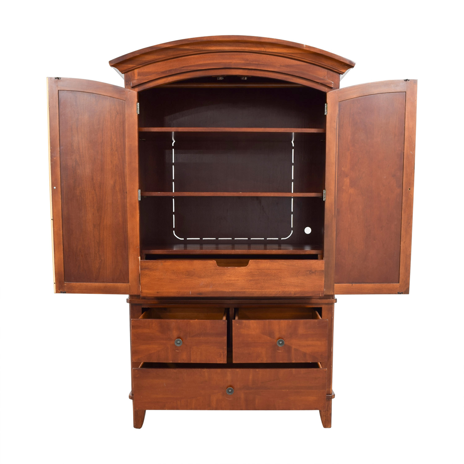 Wood Armoire with Drawers on sale