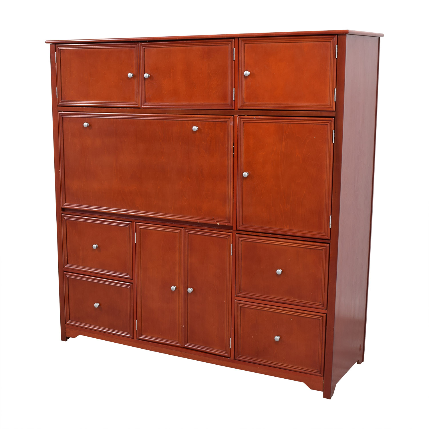 red secretary desk price