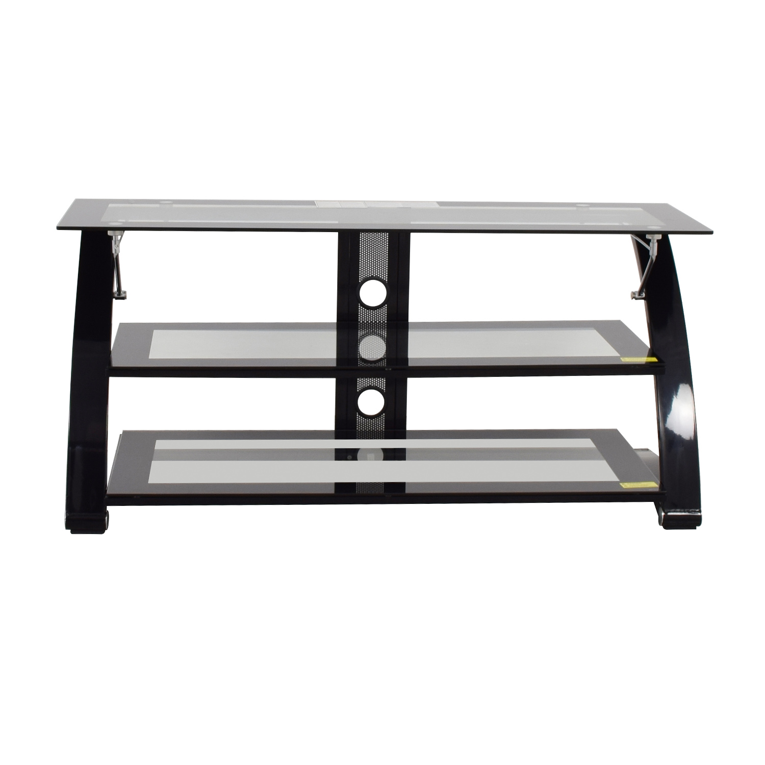 shop Glass and Metal Three Level Media Stand Media Units