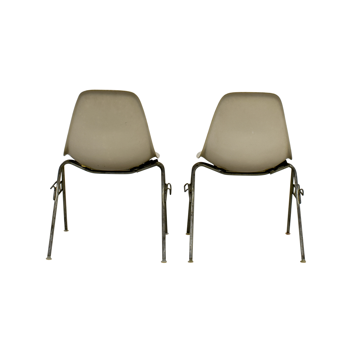 Herman Miller Herman Miller Eames Shell Chairs off white