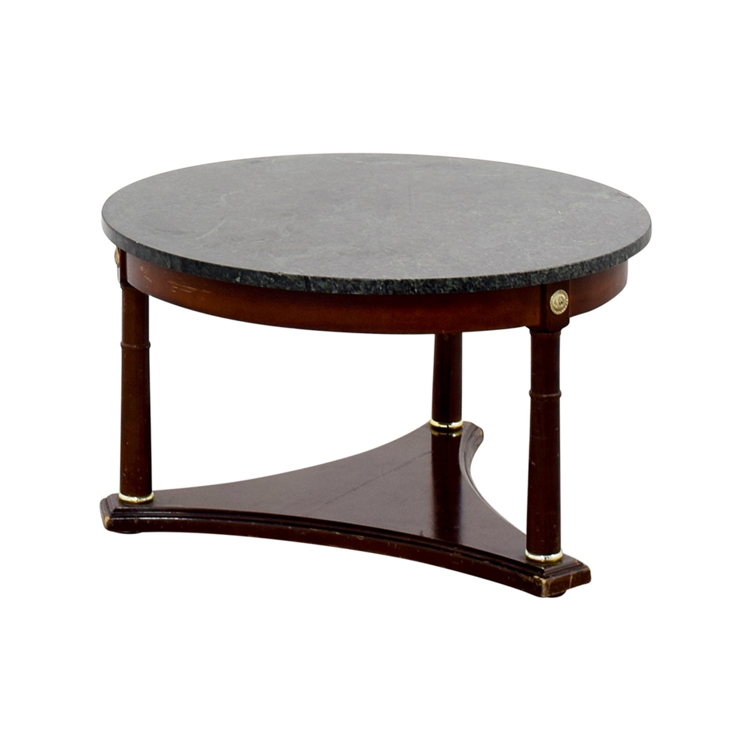 66% OFF Green Marble Side Table Tables