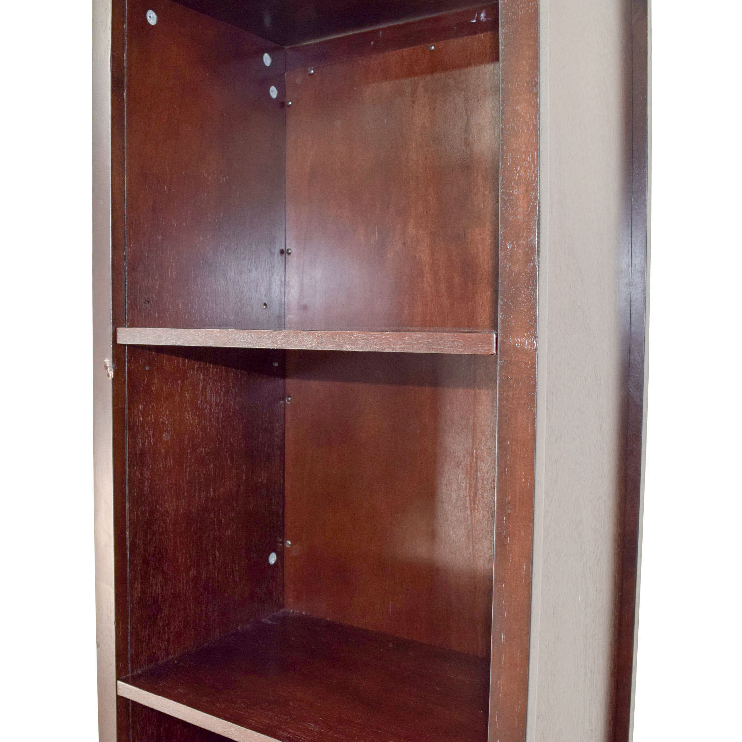 42 Off Mirror And Wood Rotating Bookcase Storage