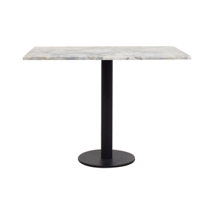 Lotus White and Gray Rectangular Marble Table used