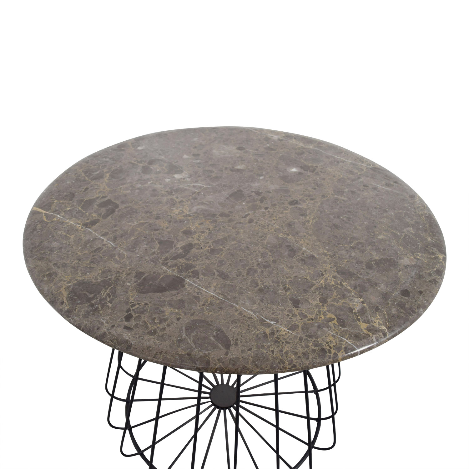 74 Off Lotus Lotus Round Grey Marble Table Tables