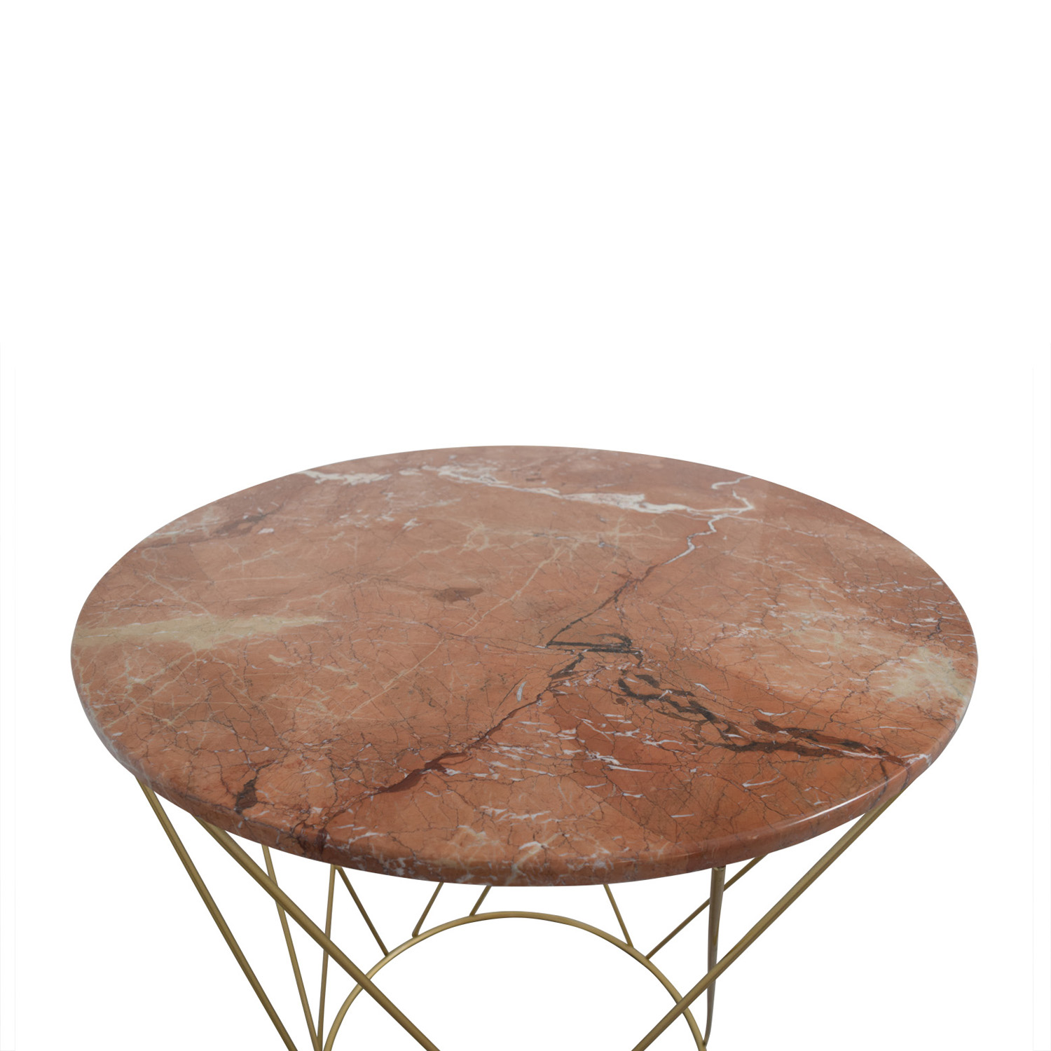 Round marble table -  Shop Lotus Pink Gold Round Marble Table Lotus