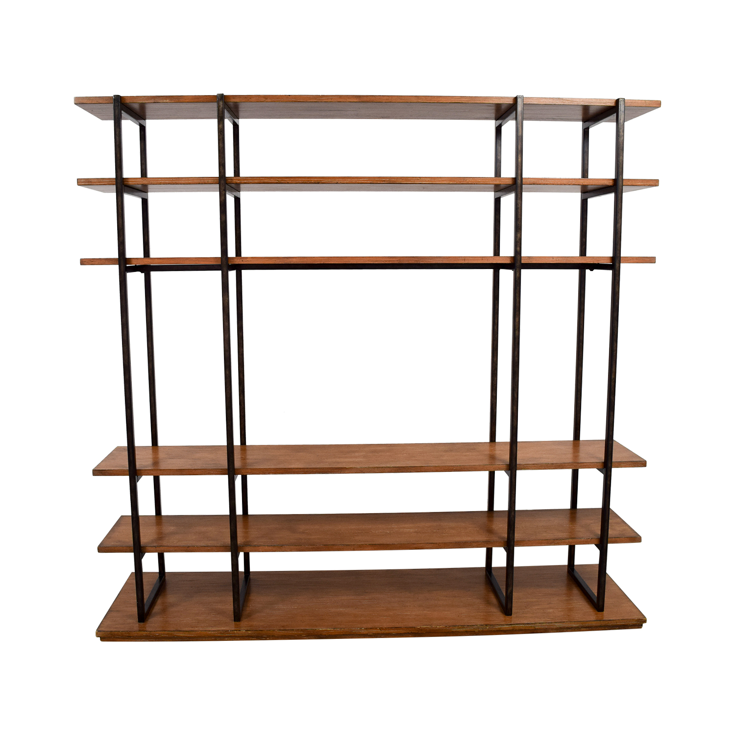 shop Wood and Metal Entertainment Wall Unit Media Units