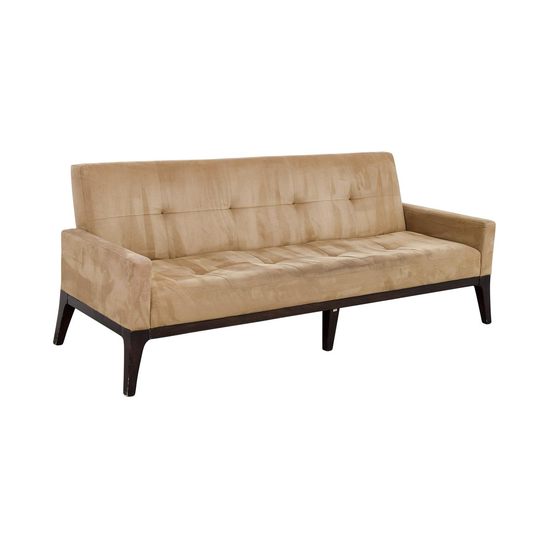 81 Off West Elm West Elm Mid Century Tan Tufted Sofa