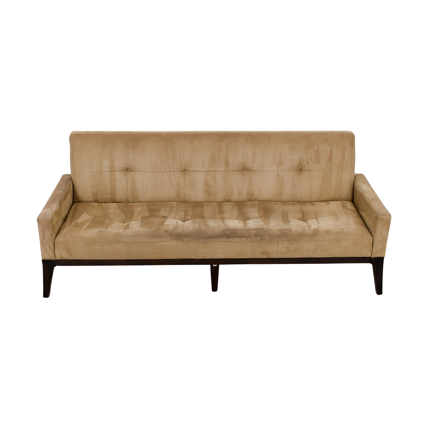 45% OFF West Elm West Elm Mid Century Tan Tufted Sofa Sofas