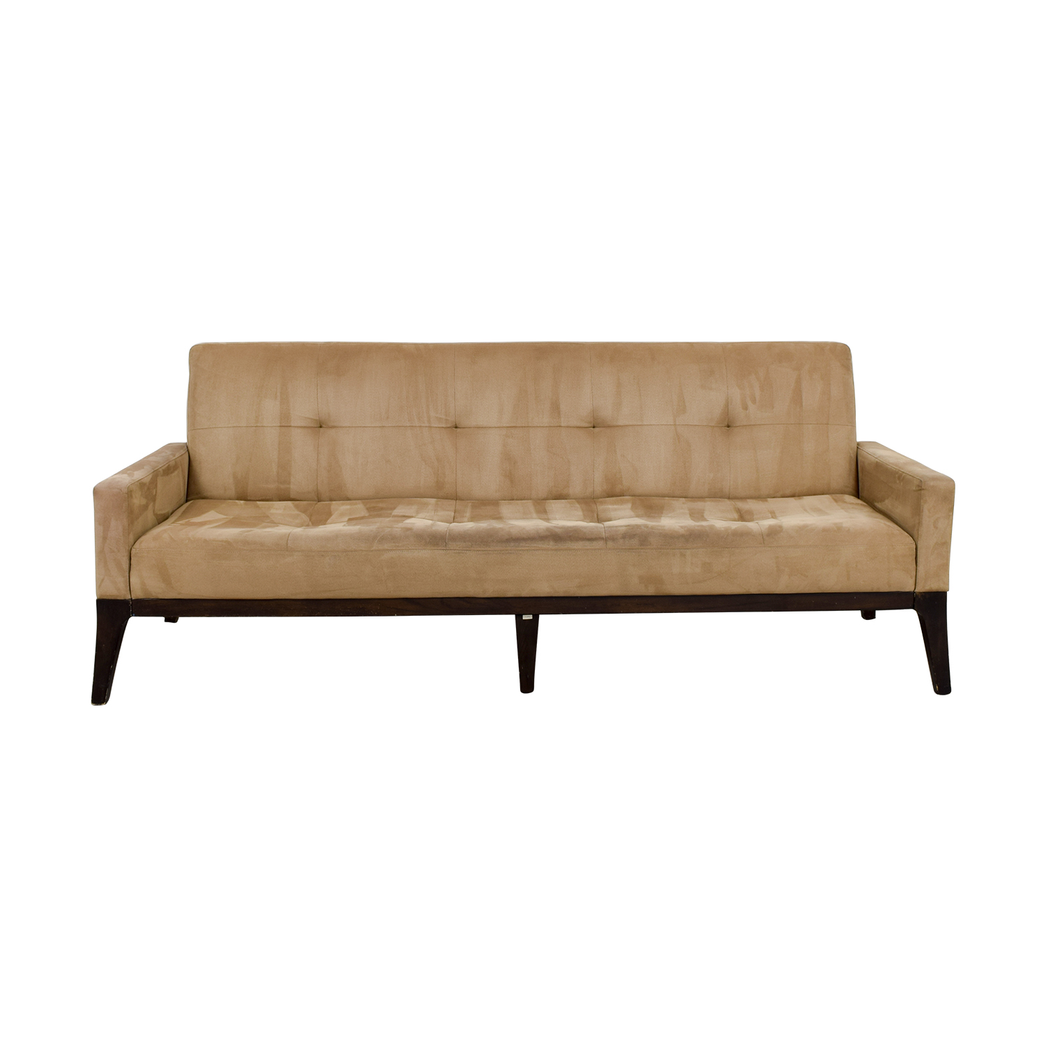 West Elm West Elm Mid-Century Tan Tufted Sofa nj