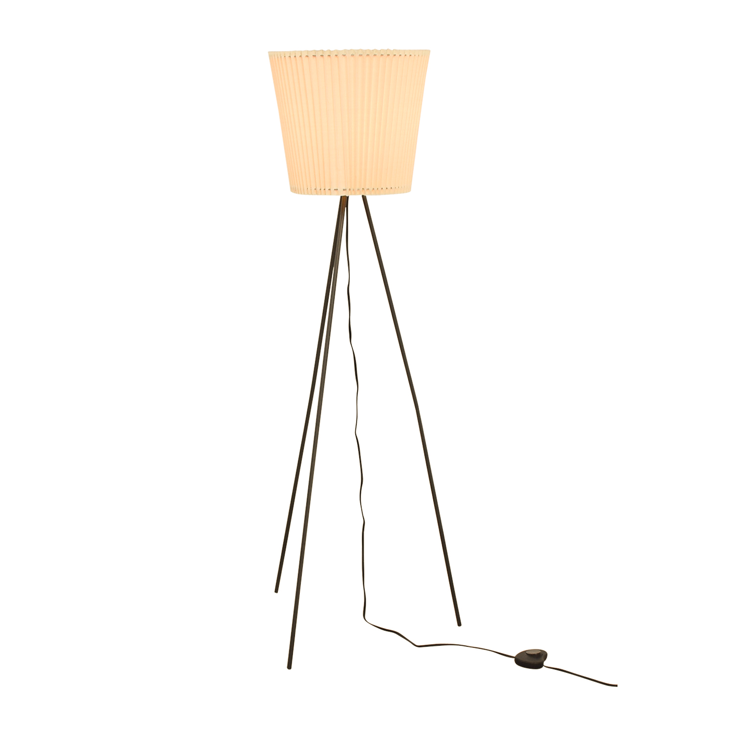 76 off pottery barn pottery barn tripod floor lamp with accordion pottery barn pottery barn tripod floor lamp with accordion shade second hand aloadofball Image collections