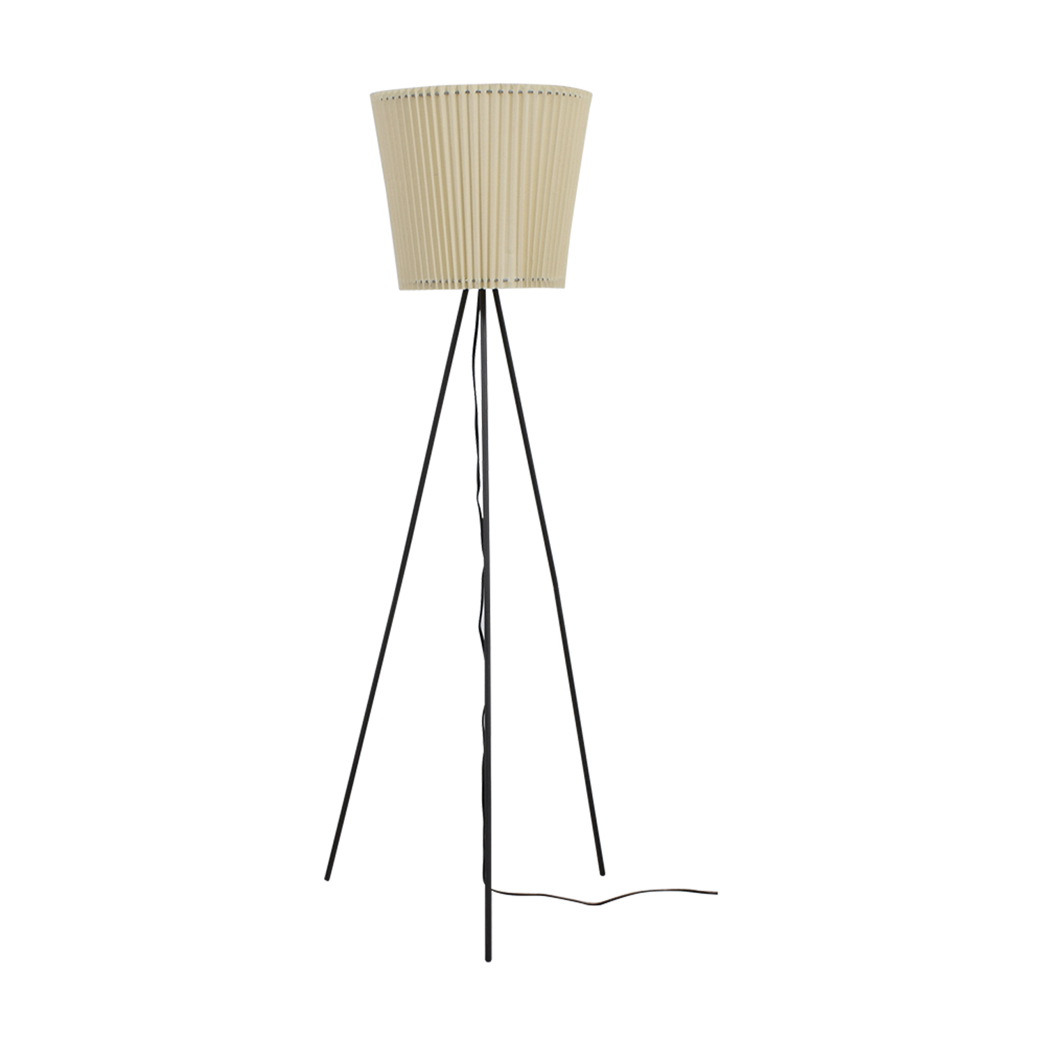 Pottery Barn Pottery Barn Tripod Floor Lamp With Accordion Shade Dimensions  ...