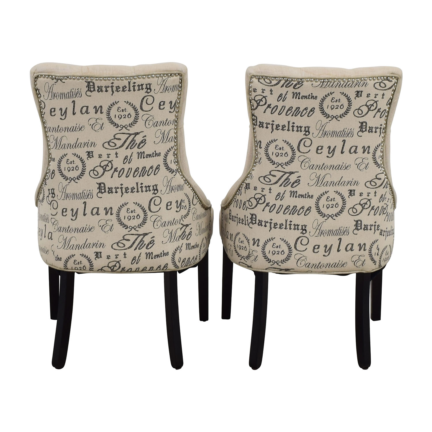 shop Raymour & Flanigan Raymour & Flanigan White Tufted Chairs online