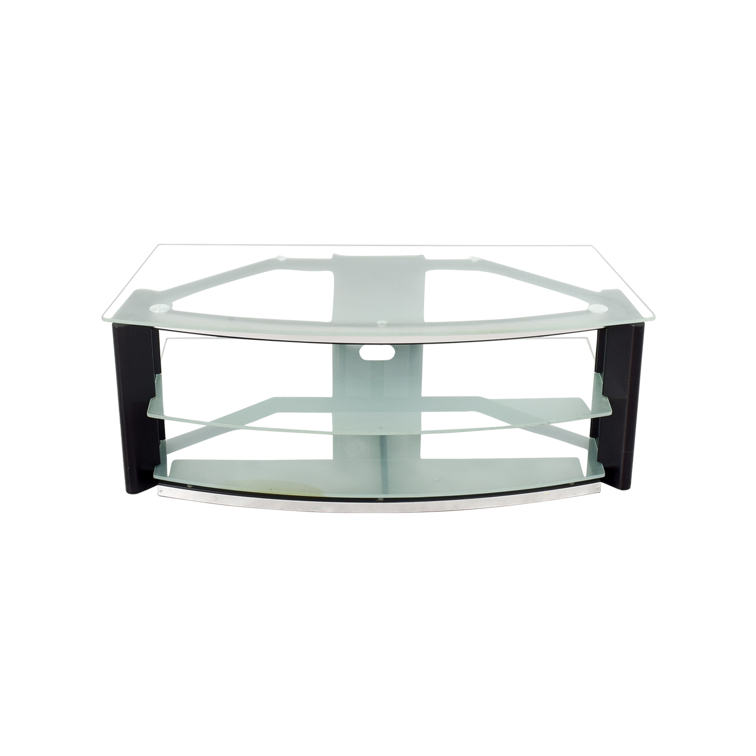 Best Buy Best Buy Glass and Metal TV Stand for sale