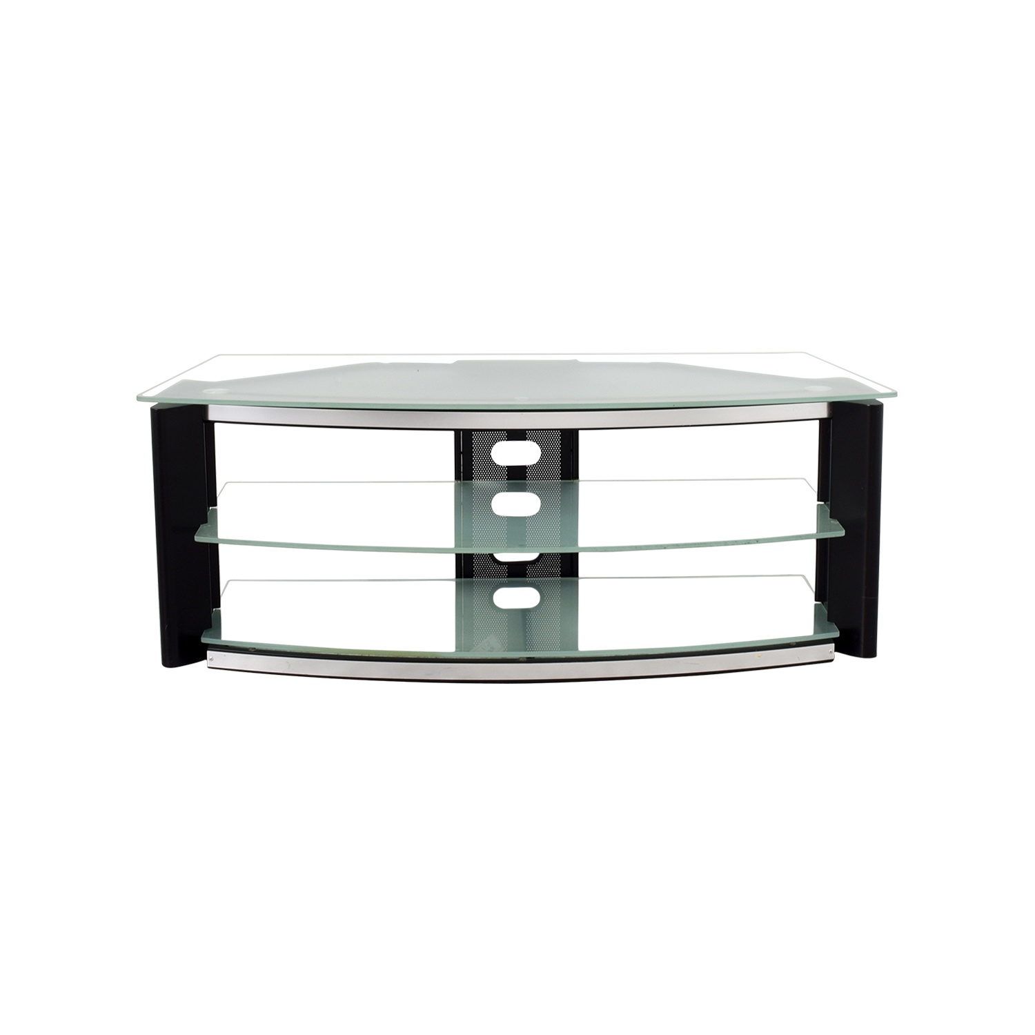 Best Buy Best Buy Glass and Metal TV Stand coupon