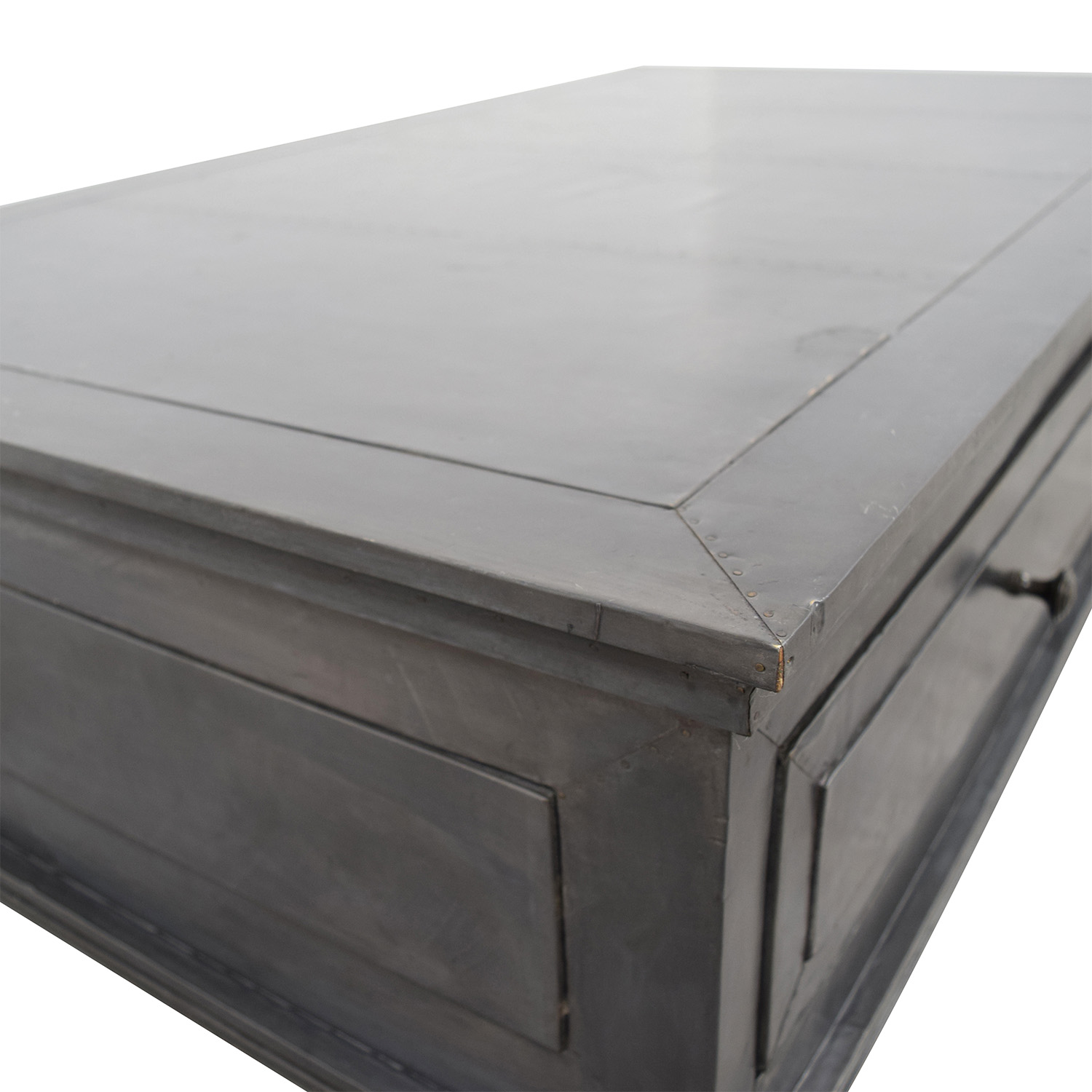 Miraculous 81 Off Restoration Hardware Restoration Hardware Annecy Metal Wrapped Coffee Table Tables Bralicious Painted Fabric Chair Ideas Braliciousco