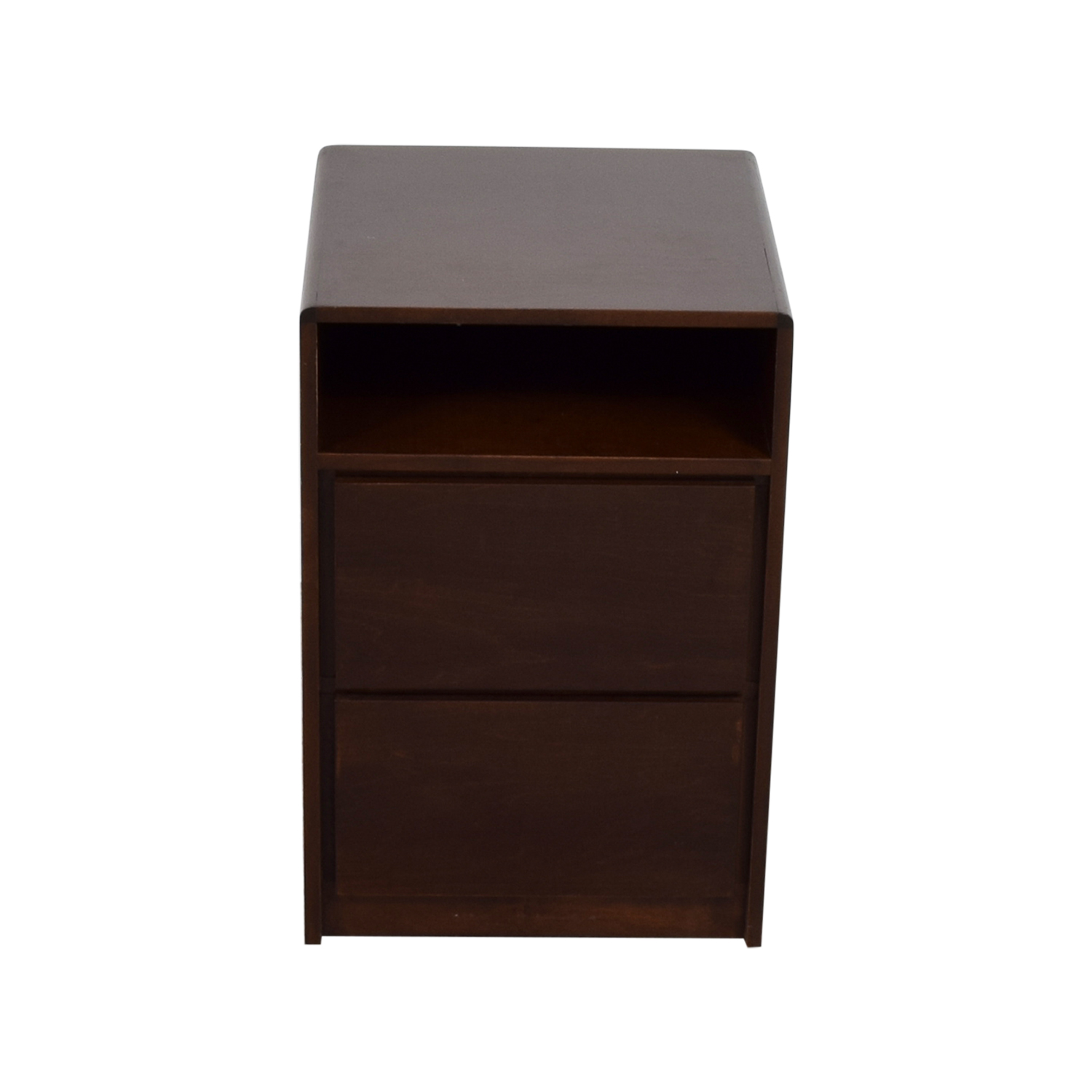 Brown Two-Drawer Side Table sale