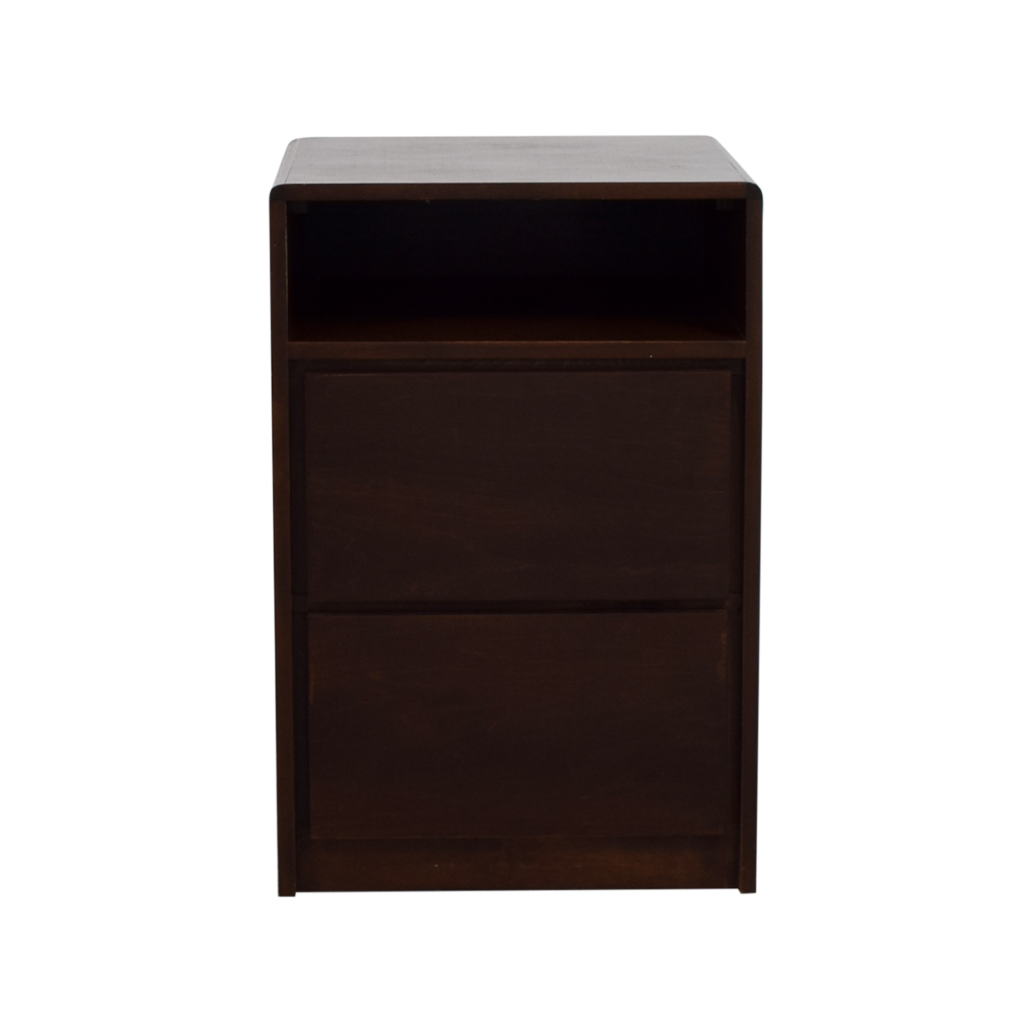 Brown Two Drawer Side Table ...