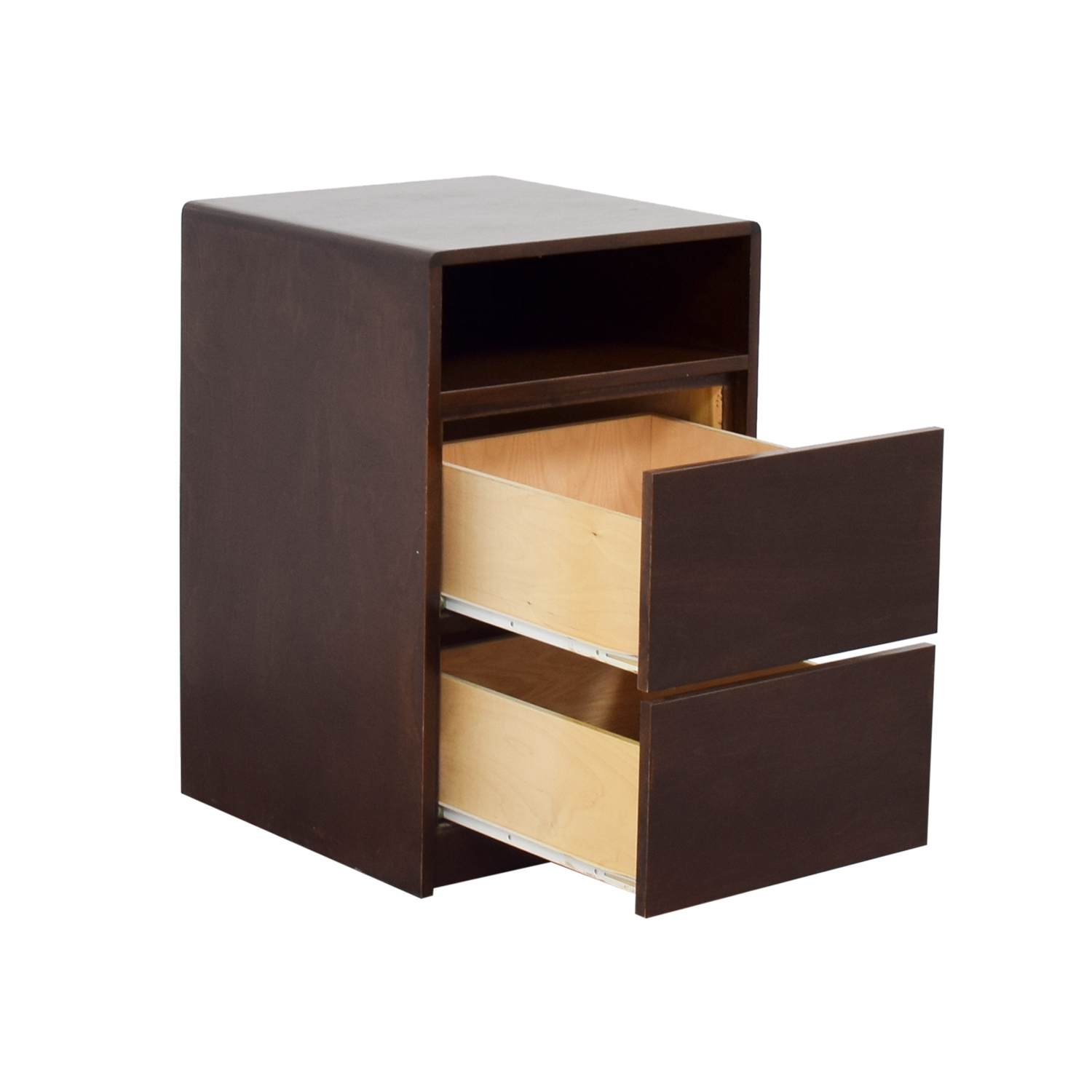 ... Brown Two Drawer Side Table End Tables ...