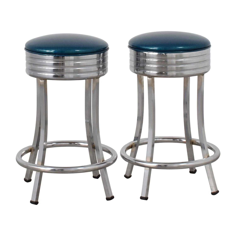 Vitro Vitro Blue Diner Stools Blue