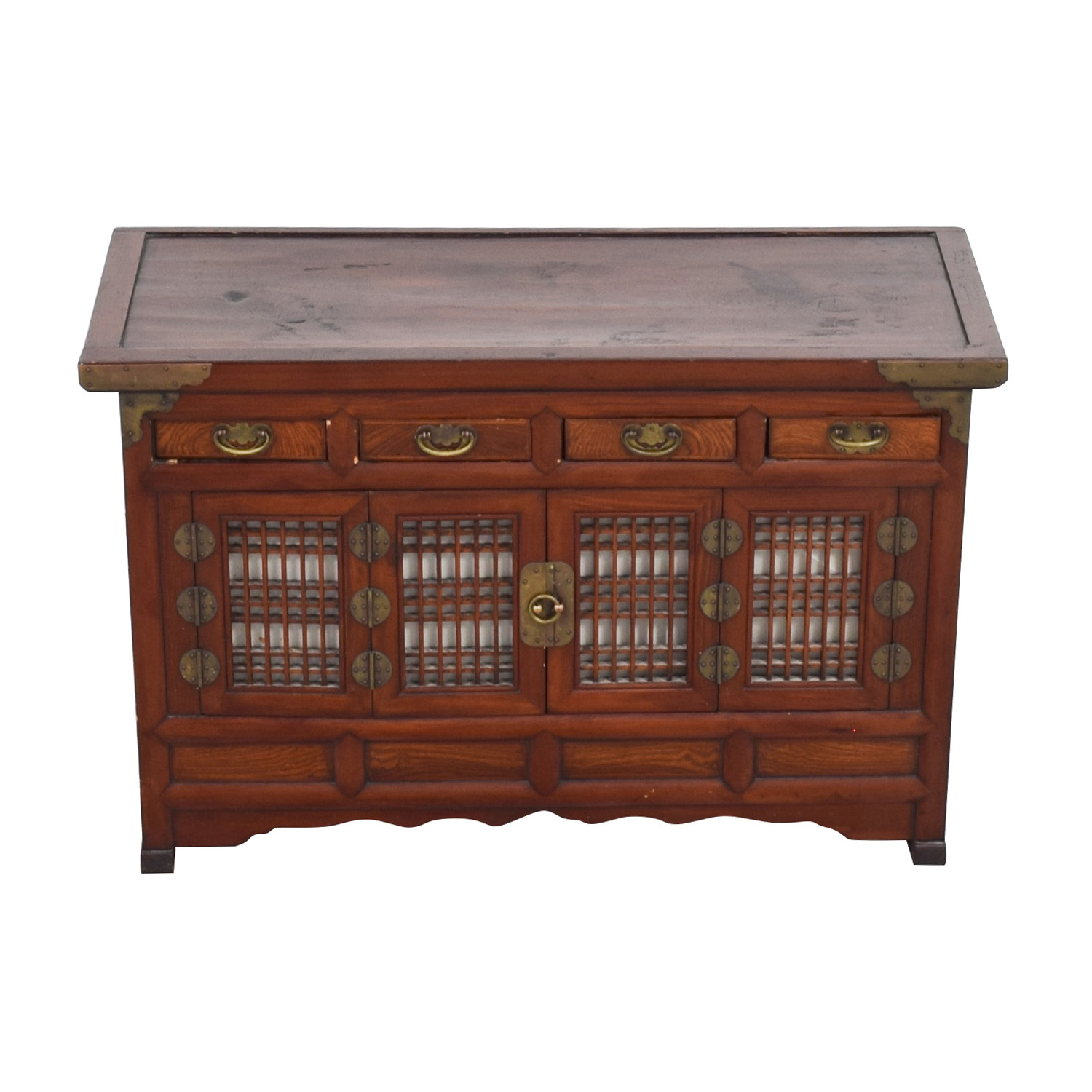 Antique Korean 19th Century Low Cabinet nyc