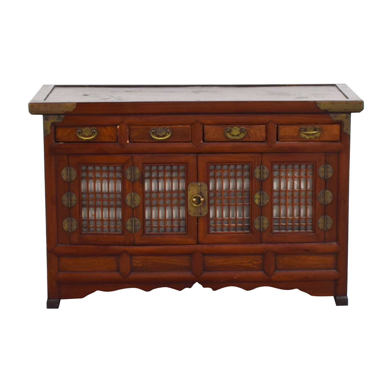 shop Antique Korean 19th Century Low Cabinet Cabinets & Sideboards