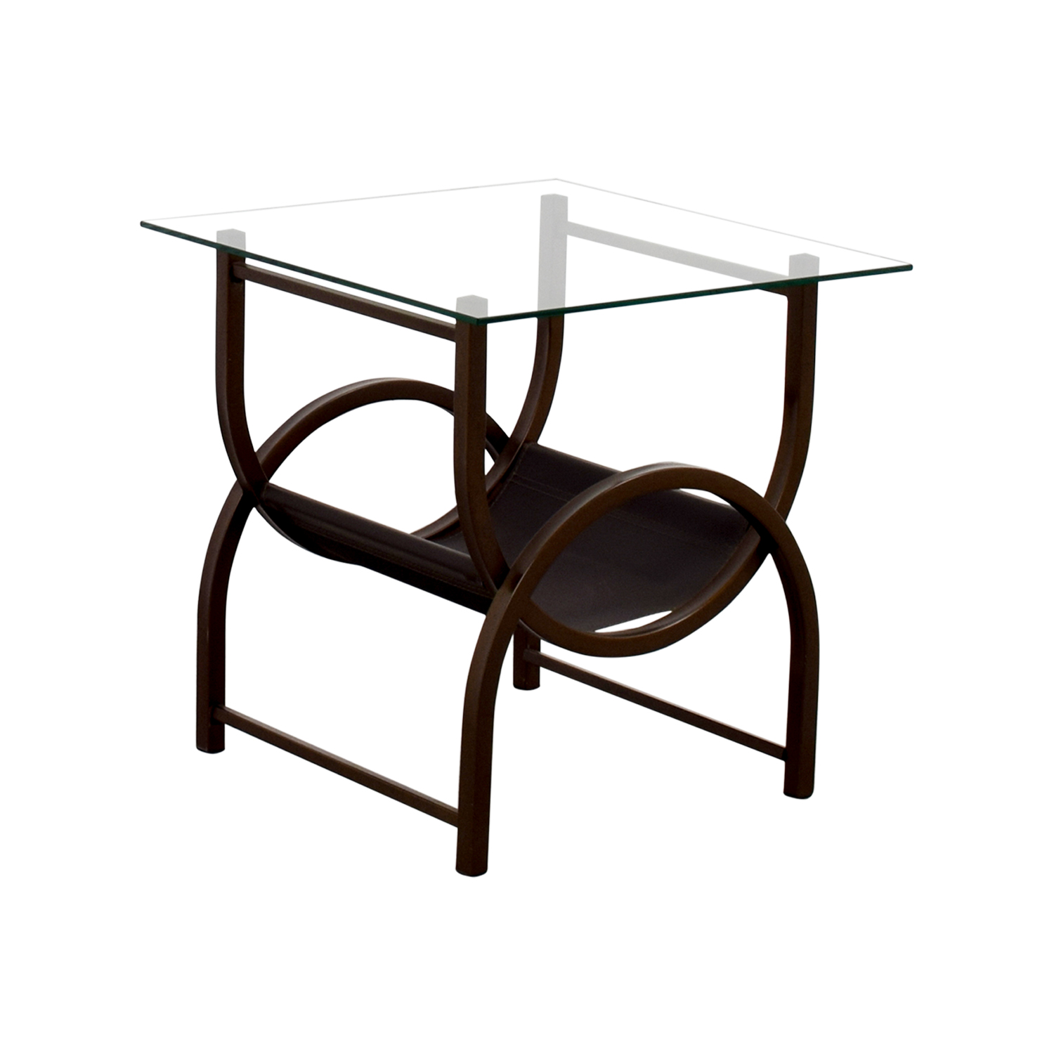 90 off glass and wrought iron side table tables for Wrought iron and glass side tables